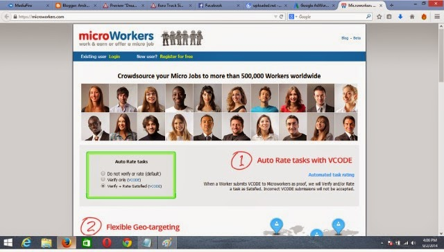 earn money online - microworkers