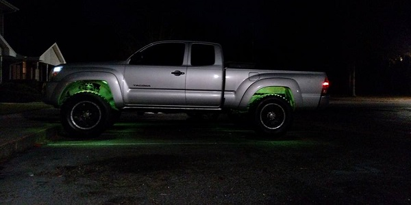 toyota tacoma green wheel lights