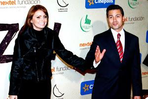 Peña Nieto y La Gaviota en la premiere del corto DE PANZASO