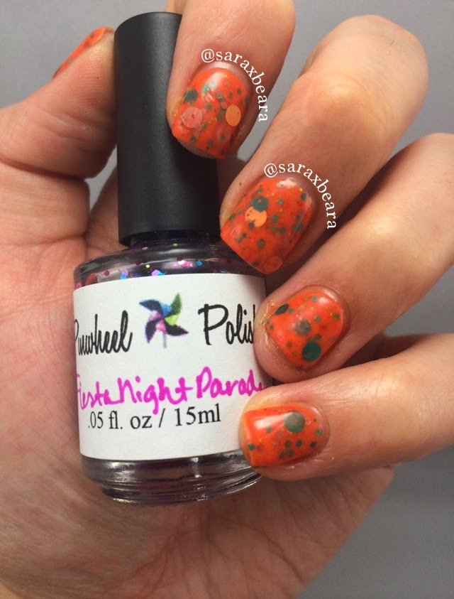 Pinwheel Polish Flambeau and Fiesta Night Parade Jelly Sandwich