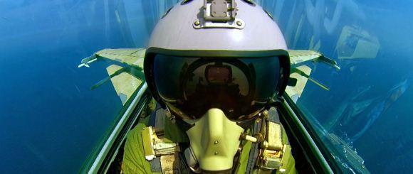 Foto selfie pilot J-15 China