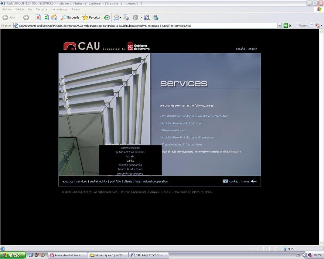 Miguel estal s p gina web de arquitectura for Arquitectura sitio web