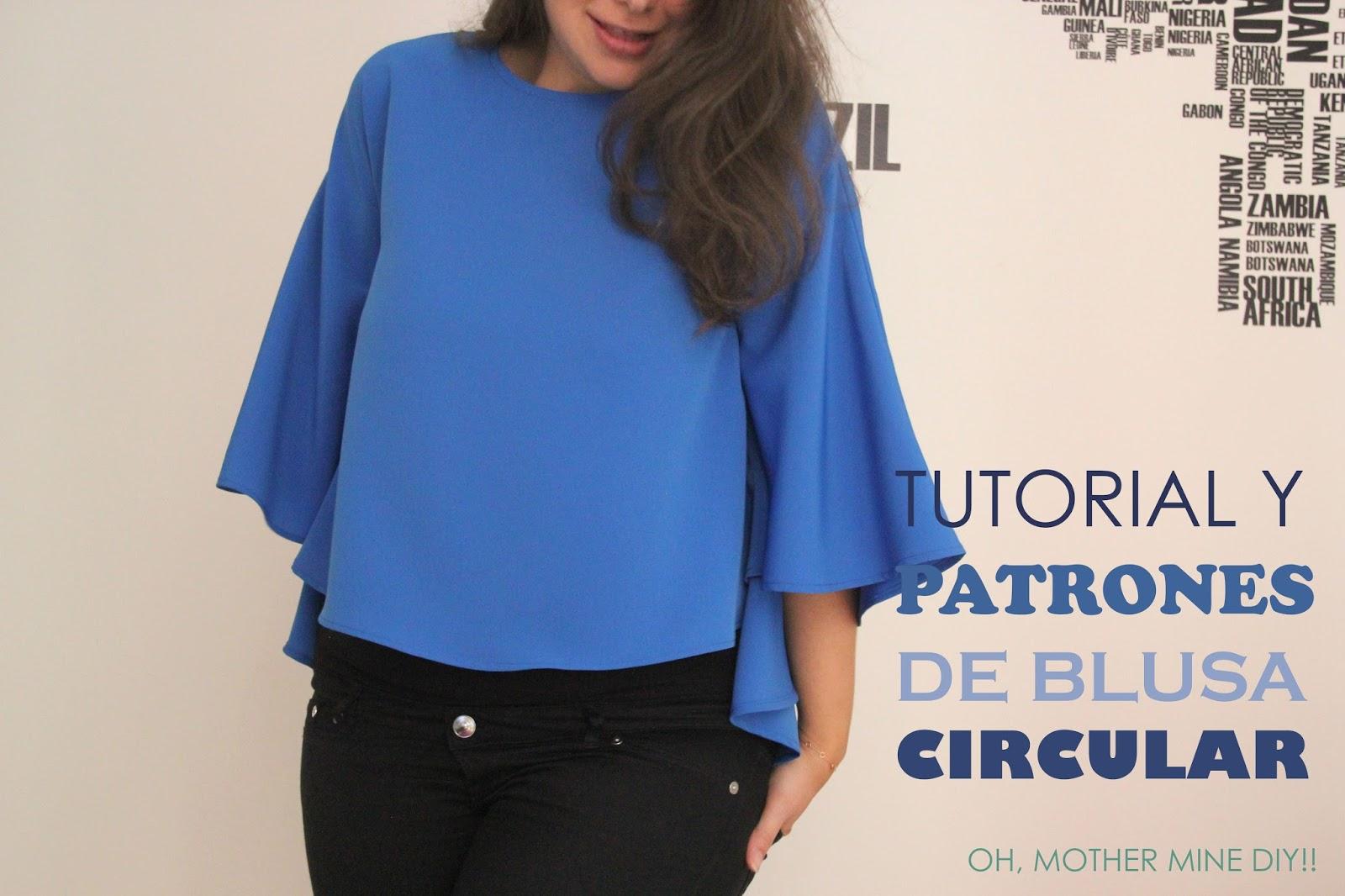 Tutorial y patrones: Blusa circular para mujer :D - Handbox Craft ...