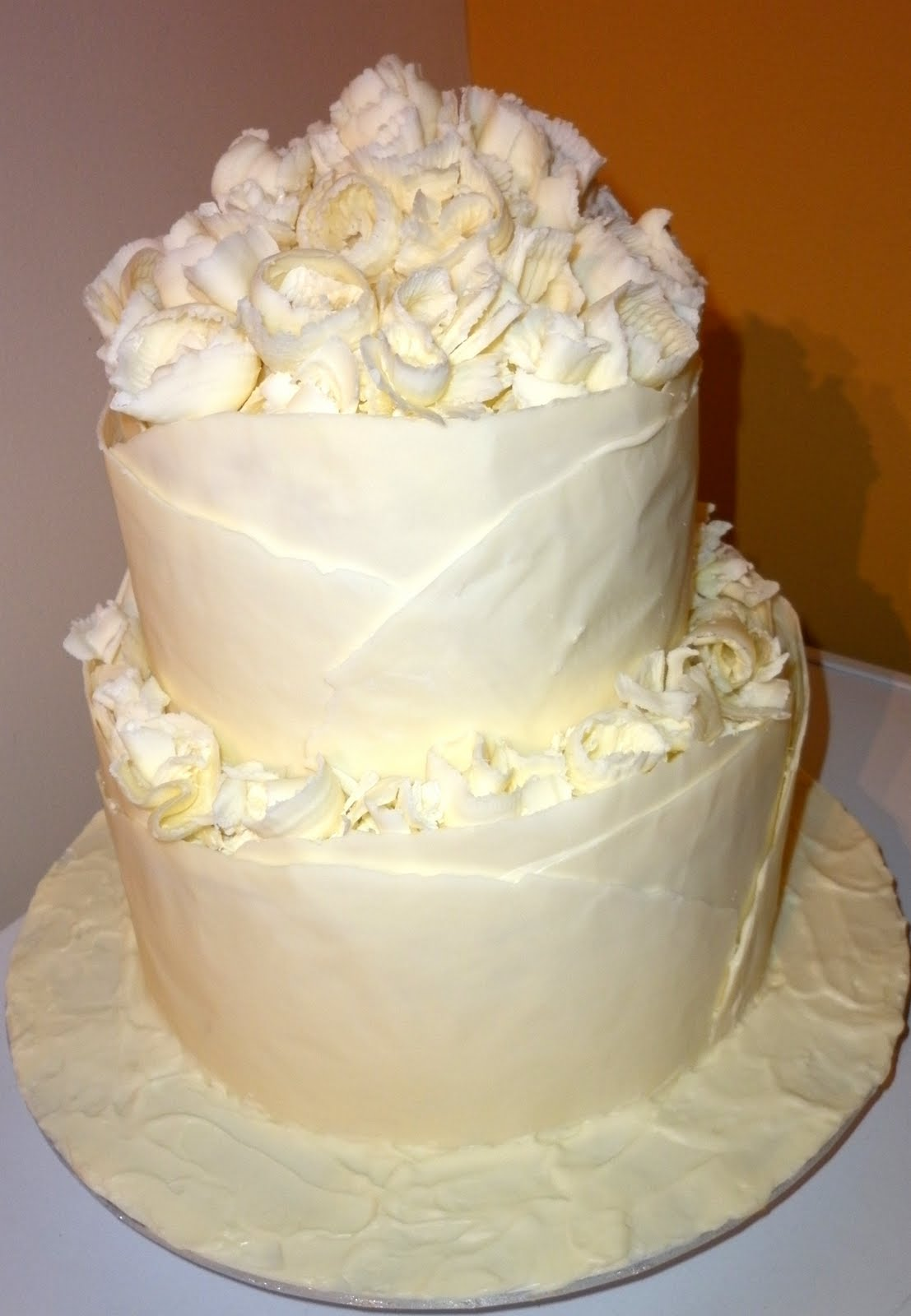 Caketopia: White Chocolate Wedding Cake for Ron and Lee