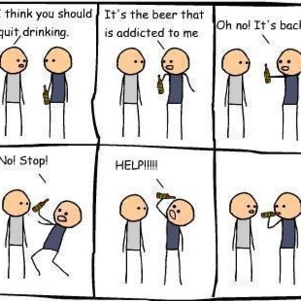 Alcohol Addict Comic