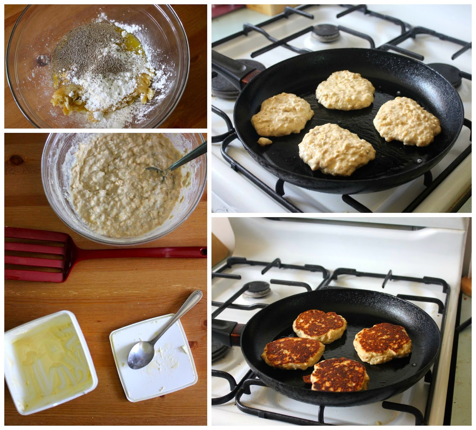 Green gourmet giraffe banana oat pancakes revisited and veganised i was inspired to try veganising the recipe again after vegan mofo last year this challenge to blog vegan food for a month has helped me learn more about ccuart Images