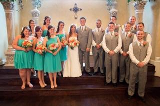 C And Teal Wedding