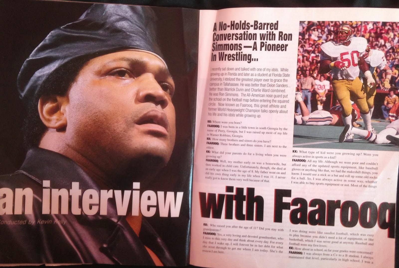 WWE: WWF RAW MAGAZINE - January 1998 - An interview with Farooq