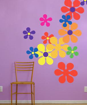 Decora el hogar decoraci n de paredes con pegatinas for Pegatinas para decorar habitaciones