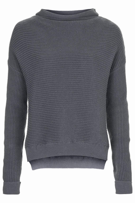 grey large neck  jumper