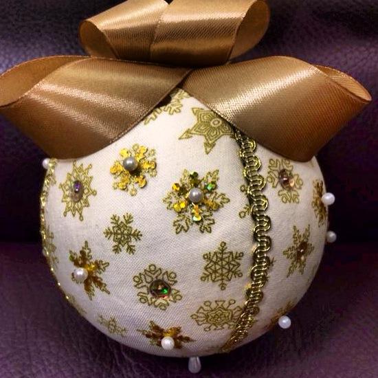 manualizando bolas de navidad caseras