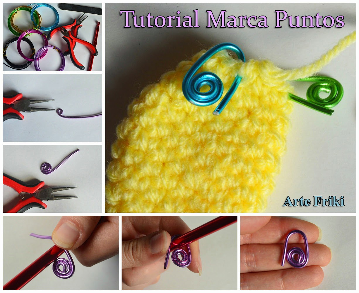 marca puntos crochet ganchillo tutorial how to make sticht marker paso a paso como hacer marcador puntos diy amigurumi