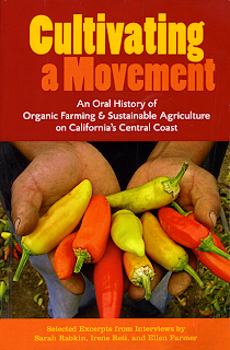 Book Cover, hands holding multicolor mini peppers