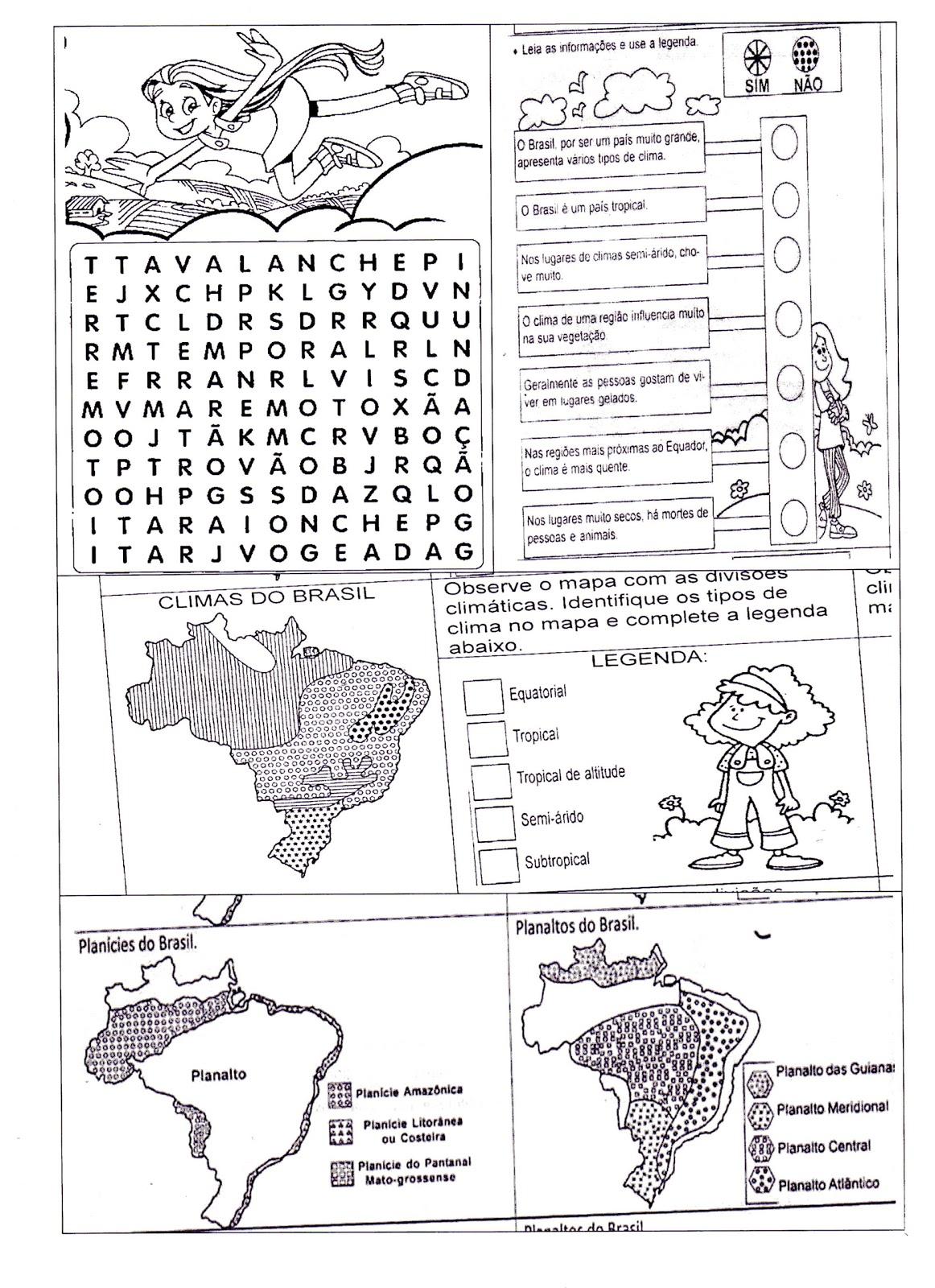 Atividades Sobre T  Pico 10 Cultura E Natureza Relevo  Vegeta    O E