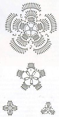 """Как связать крючком """"бронзовое"""" колье? Схема вязания цветов для украшения"""