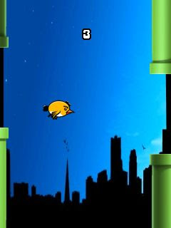 Screenshots of the Flappy Bird HD for java mobile, phone.