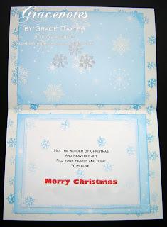 Snowman family, inside card