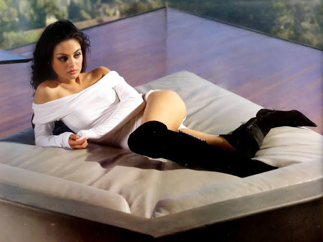 Mila Kunis sexy in white dress