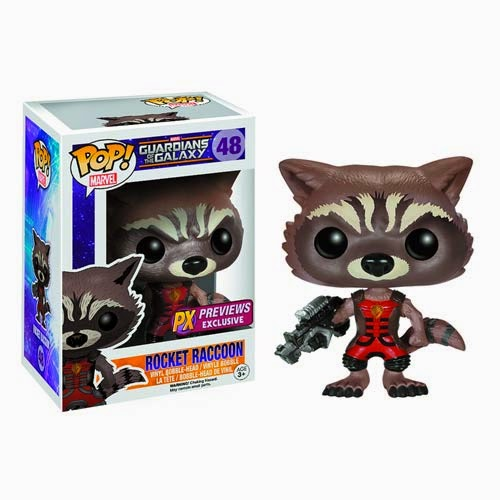 "Previews Exclusive ""Ravagers"" Rocket Raccoon Guardians of the Galaxy Pop! Marvel Vinyl Figure by Funko"