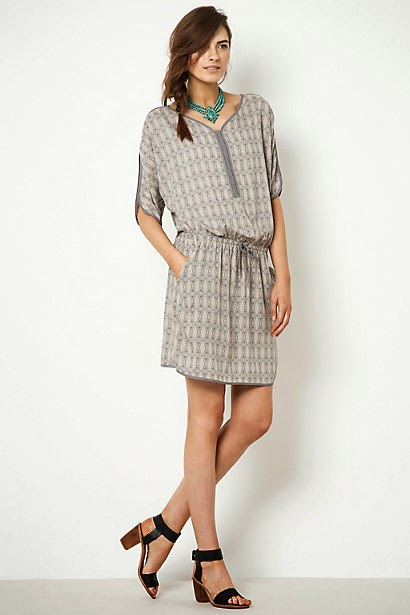 anthropolgie grey dress