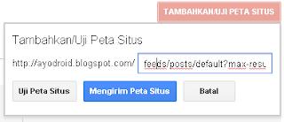 Cara menambahkan sitemap di Google Webmaster