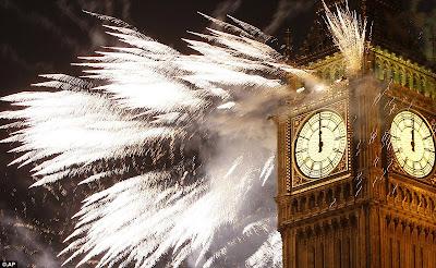 Perayaan Tahun Baru 2012 di London, Inggris