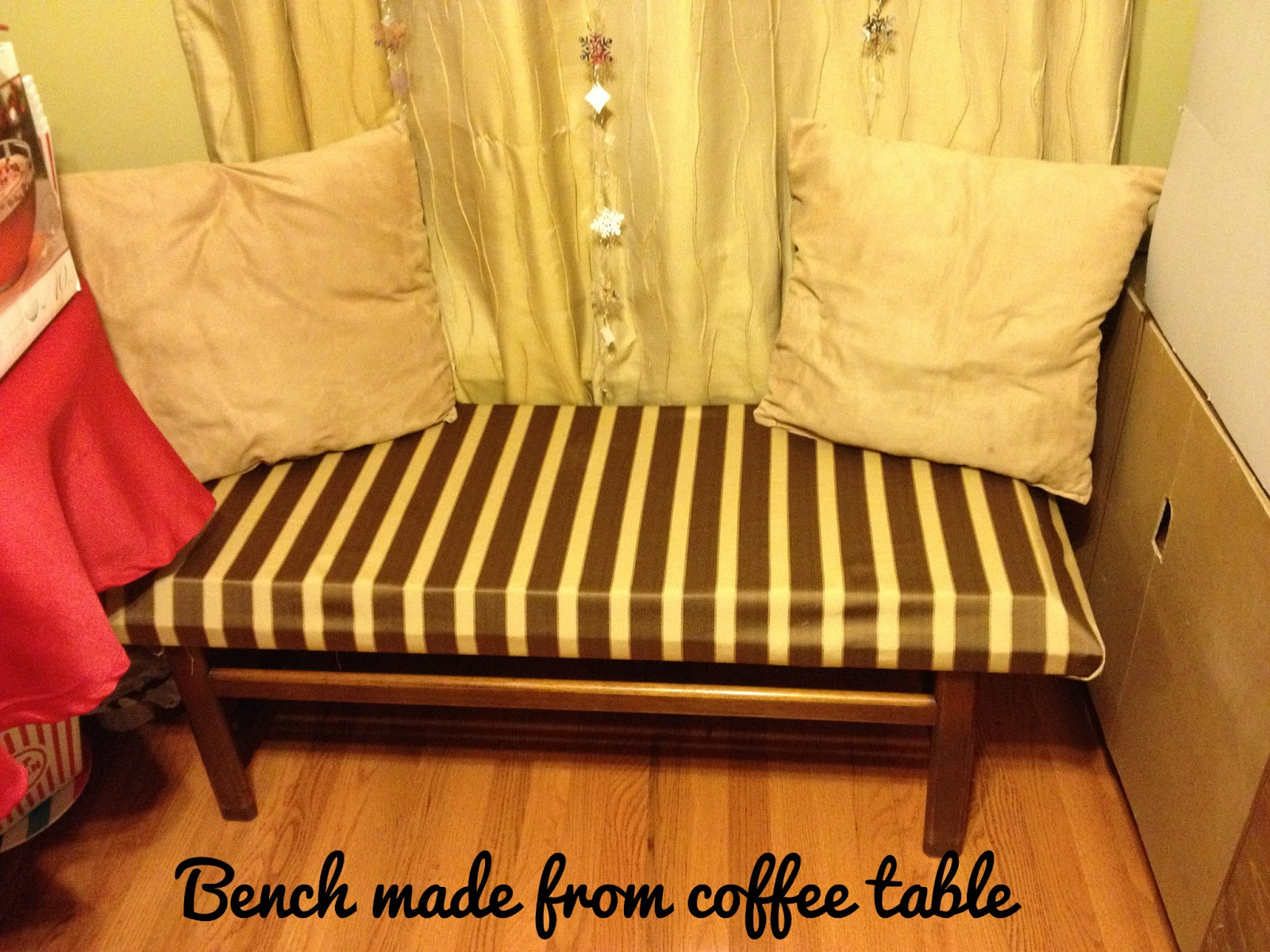 Coffee Table Into A Bench Madcap Frenzy Graphic Design Diy Papercrafts And Everything In