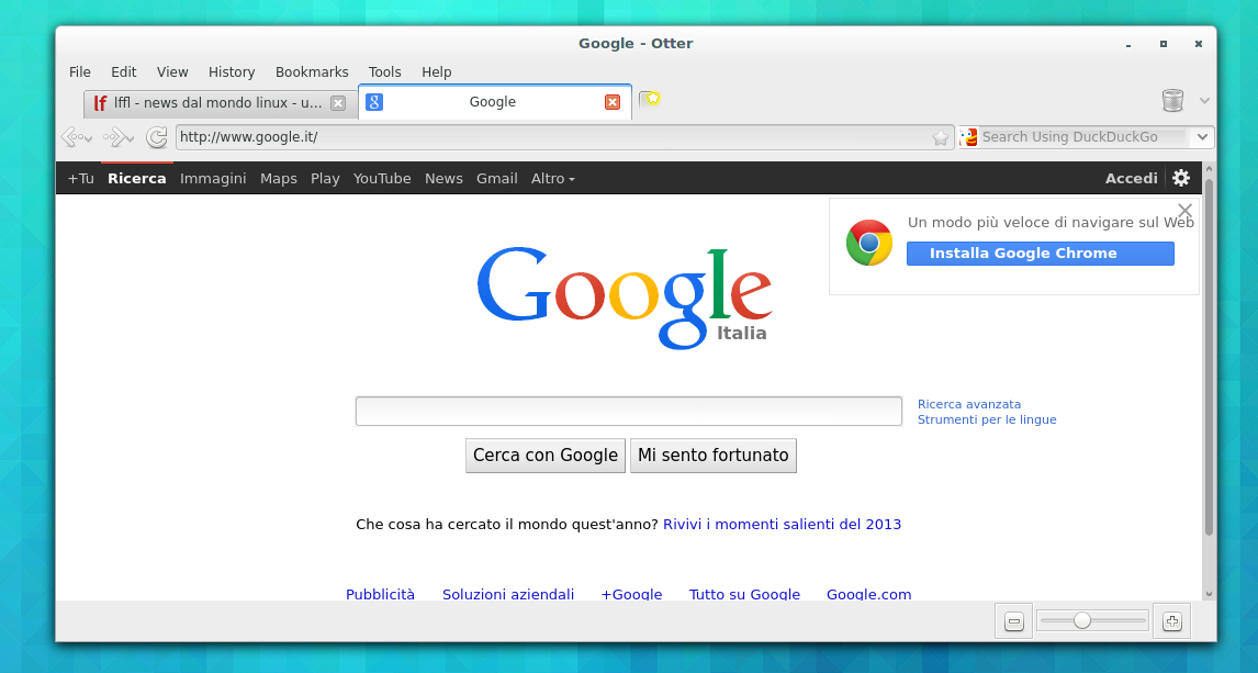 Otter la versione open source di opera browser Linux browser