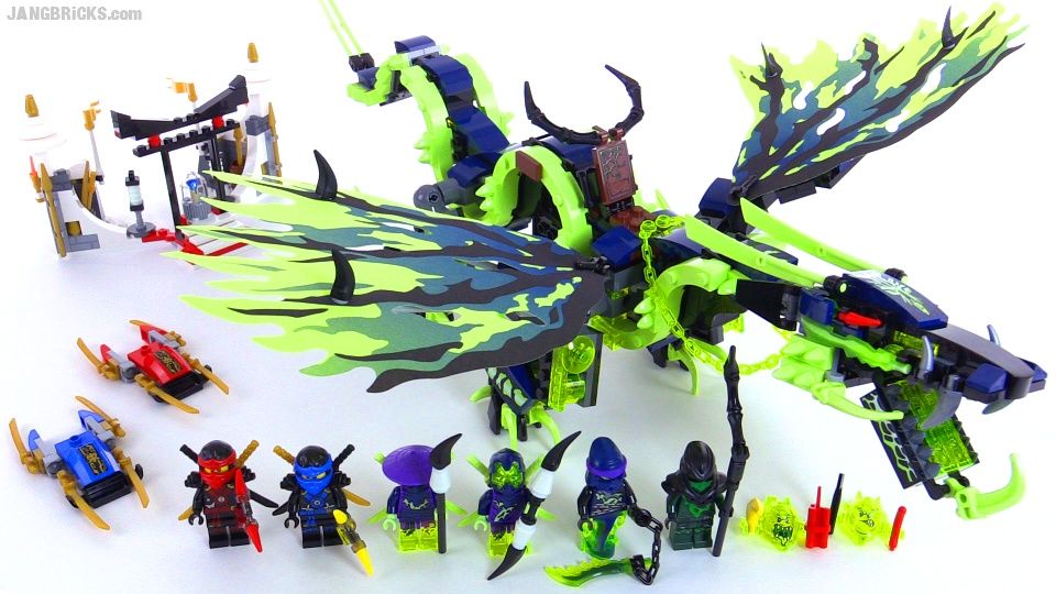 lego ninjago attack of the morro dragon build review videos set 70736