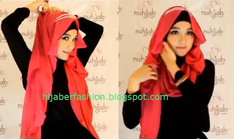 hal yang sama pada sisi jilbab yang lain berikan pentul agar jilbab ...