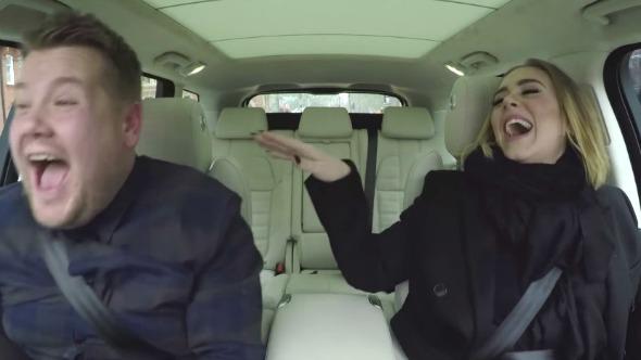"""Mira el adelanto de la participación de Adele en """"Carpool Karaoke"""" de James Corden."""