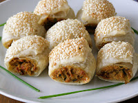 Vegan Chicken, Sun-Dried Tomato and Basil Sausage Rolls