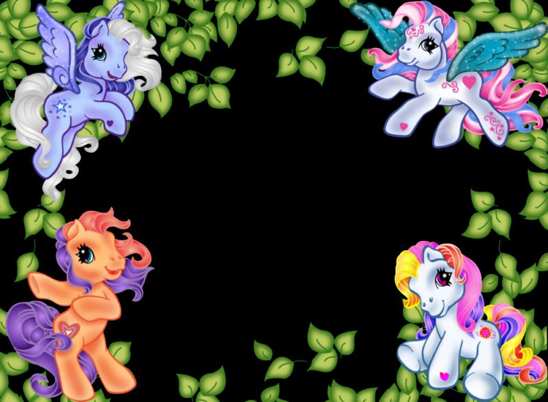 8 Fabulosos Marcos para Fotos en Png de My Little Pony. | Marcos ...