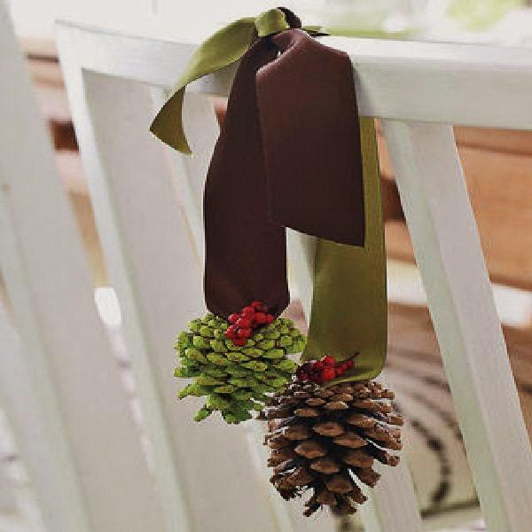 Как украсить стул к новому году