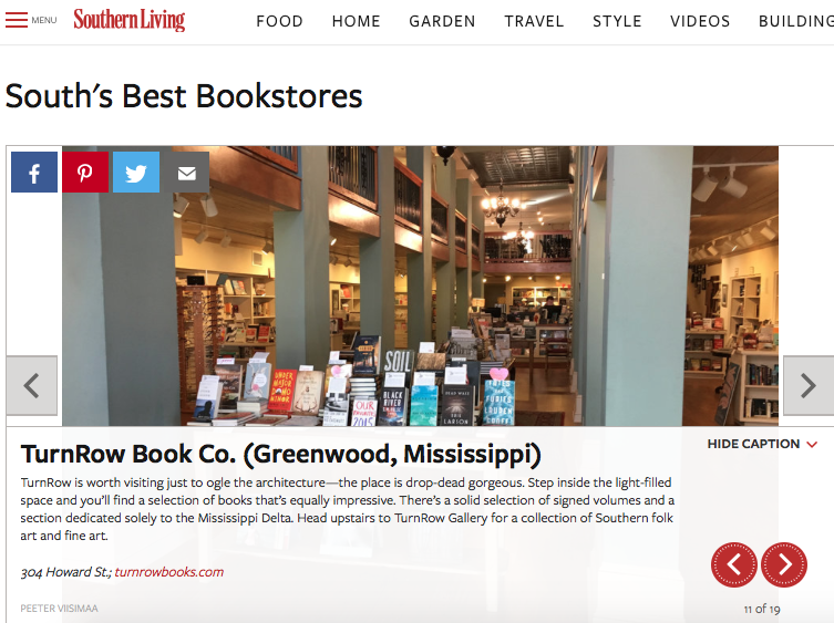 ... The Southu0027s Best Bookstores By Southern Living Magazine. In Great  Company With My Friend Jamie At Turnrow Books And The Revered Square Books  In Oxford.