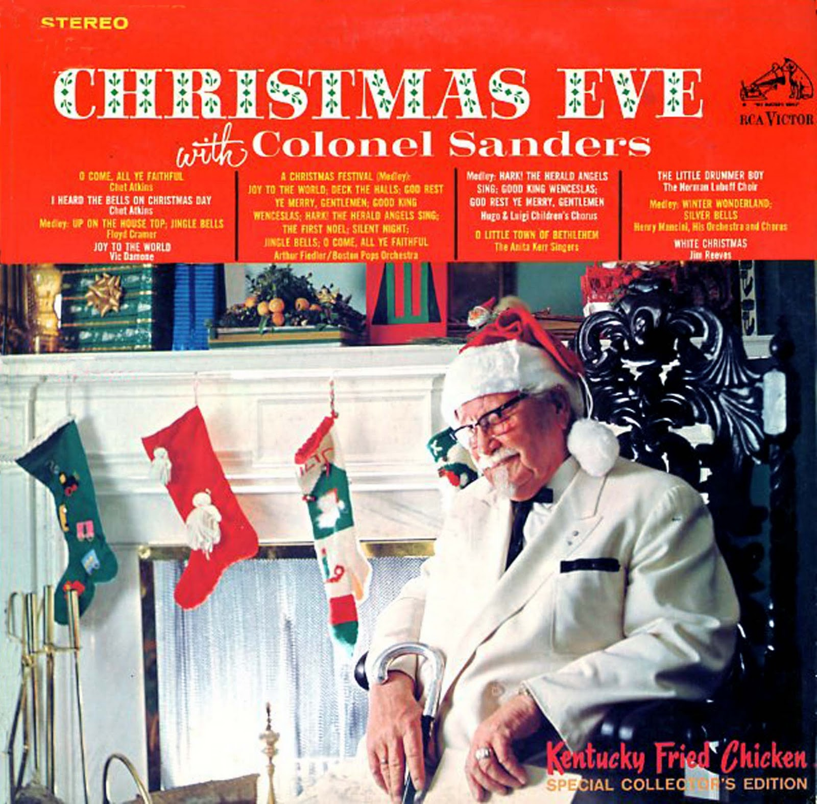 Christmas with Colonel Sanders. Kentucky Fried Chicken ...