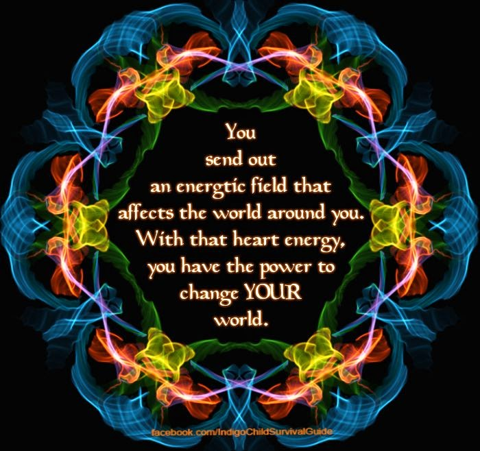 """You send out an energetic field that affects the world around you. With that heart energy, you have the power to change your world."" Picture of a fractal wreath"