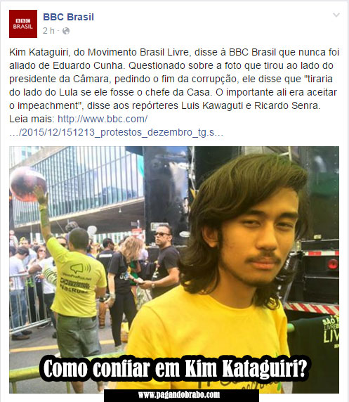 Kim Kataguiri diz à BBC que nunca foi aliado de Cunha