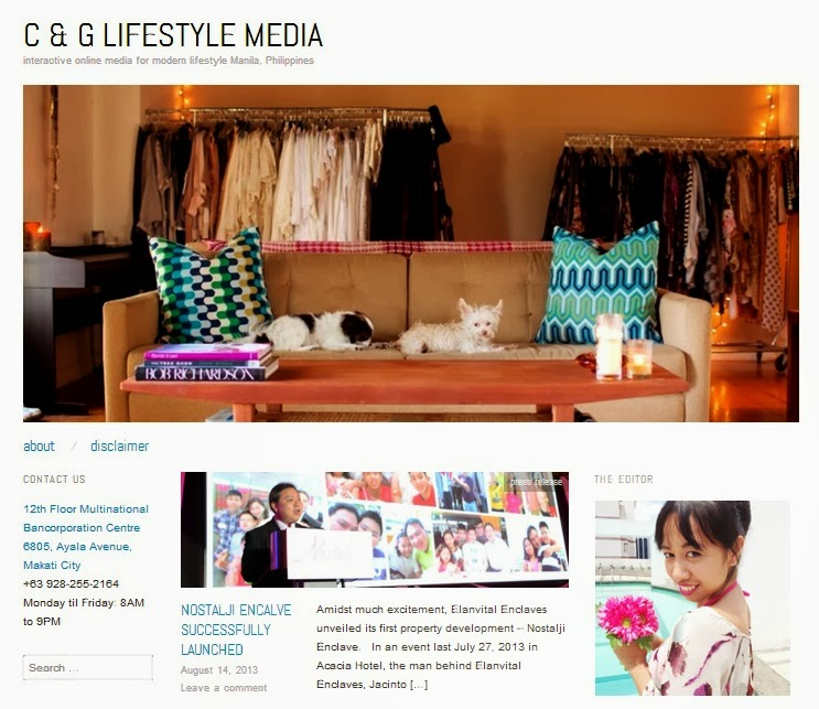 BLOGGER FOR CG LIFESTYLE MEDIA