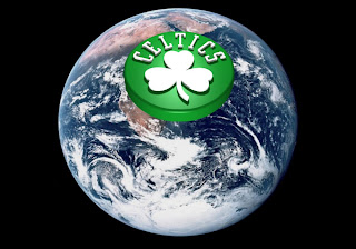 Boston Celtics Posters Wallpapers Celtics Up Logo in Earth Seen From Space background