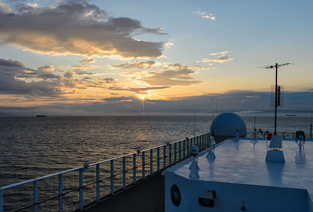 Sunset on the Norwegian Pearl