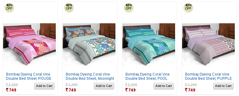 Beautiful printed 3 double BedSheets @ 799 worth Rs.2599 | YebhiOffer.