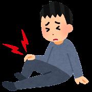 関節痛のイラスト(ひざ)