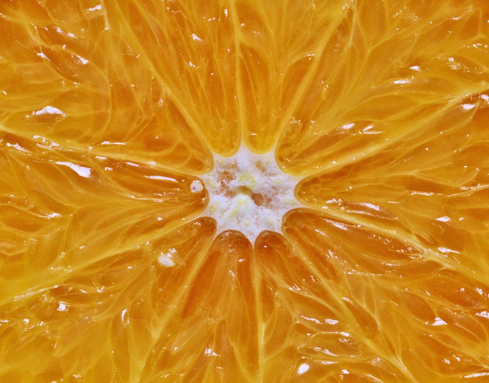 interior de una naranja