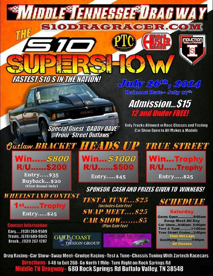S10 SuperShow at Middle Tennessee Dragway