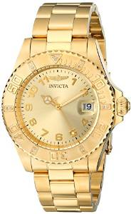 "Invicta Women's 15249 ""Pro Diver"" 18k Yellow Gold Ion-Plated Stainless Steel Watch"