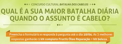 """Concurso Cultural  """"Batalha dos Cabelos"""""""