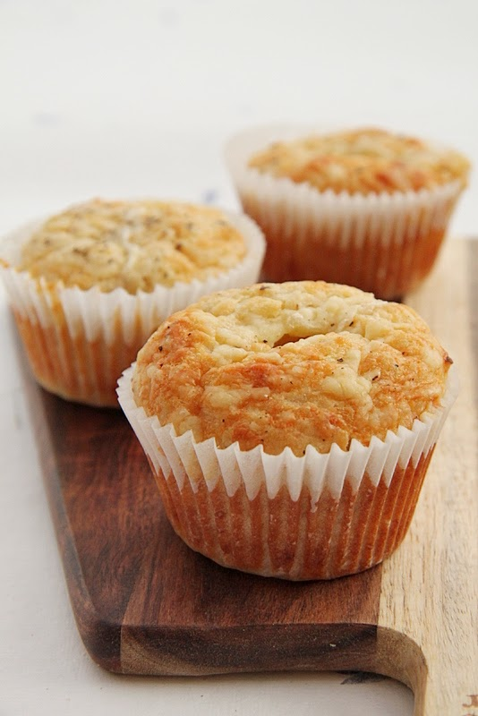 Muffiny wytrawne podwójnie serowe