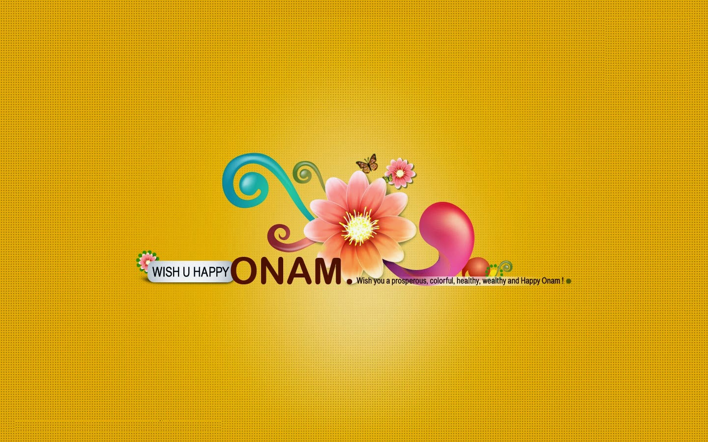 simple yello design Happy onam wallpaper