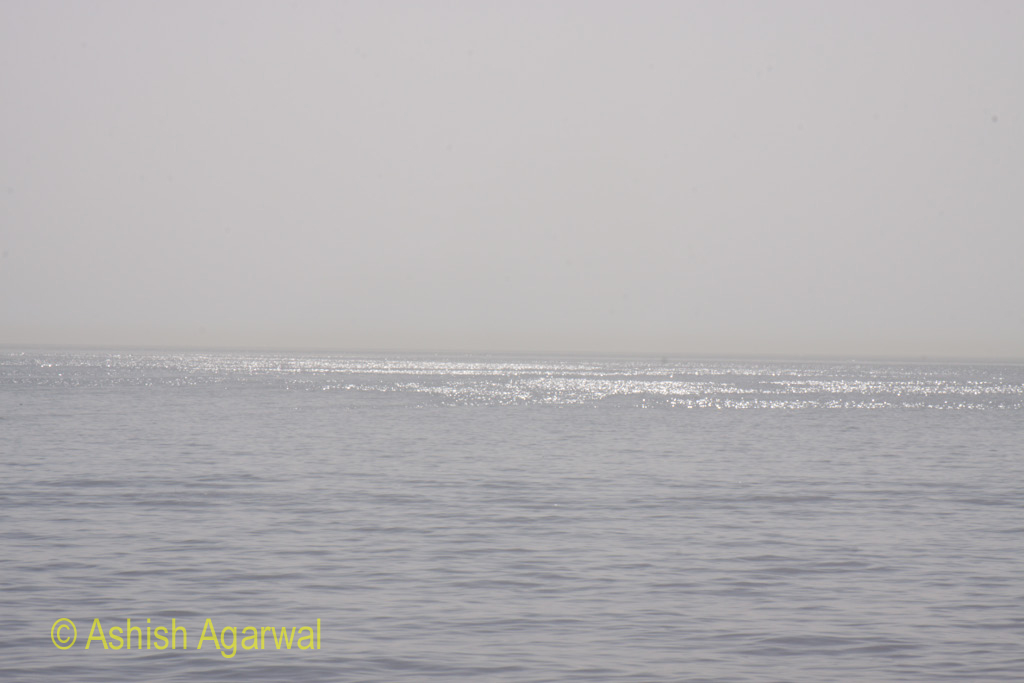 A view of the sea near Sharm el Sheikh - liked the shine in the sea
